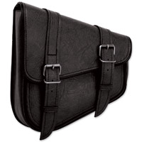 River Road Classic Left Side Mount Black Swingarm Bag