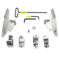 Memphis Shades Polished Batwing Fairing Trigger-Lock Mount Kit