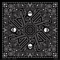 ZAN headgear Black Paisley Deluxe Bandana