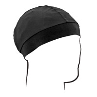ZAN headgear Black Skull Cap with Comfort Band