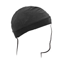 ZAN headgear Mesh Black Skull Cap with Comfort Band