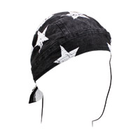 ZAN headgear Black and White Flag Road Hog Flydanna