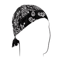 ZAN headgear Black Paisley Road Hog Flydanna