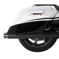 Rinehart Racing Moto Series 3.5″ Slip-ons  Black with Chrome Merge End Caps