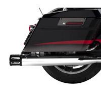 Rinehart Racing Moto Series 3.5″ Slip-ons Black with Chrome Slot End Caps