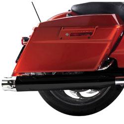 Rinehart Racing Moto Series 4″ Slip-ons Black with Chrome Castle End Caps
