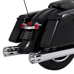 Rinehart Racing Moto Series 4″ Slip-ons Black with Chrome Slot End Caps