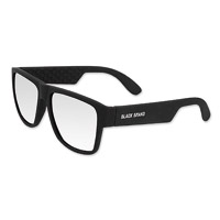Black Brand Fugitive Matte Black Sunglasses with Smoke Mirror Lens