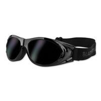 Black Brand Road Dog Gloss Black Goggles with Interchangeable Lens