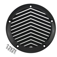 Joker Machine V Fin Black Silver 5 Hole Derby Cover
