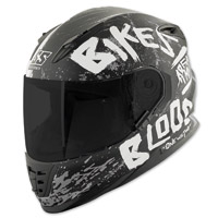Speed and Strength SS1310 Bikes Are In My Blood Matte Black/White Full Face Helmet