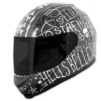 Speed and Strength SS700 Hell′s Belles Matte Black Full Face Helmet