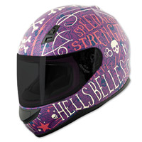 Speed and Strength SS700 Hell′s Belles Matte Purple Full Face Helmet