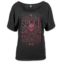 Speed and Strength Women's Hell's Belles Charcoal Scoop Neck Tee