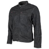 Speed and Strength Men's Overhaul Black Denim Moto Jacket