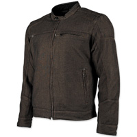 Speed and Strength Men's Overhaul Brown Denim Moto Jacket