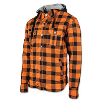 Speed and Strength Men's Standard Supply Orange/Black Moto Jacket