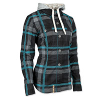 Speed and Strength Women's True Romance Teal/Black Moto Jacket