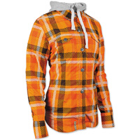 Speed and Strength Women's True Romance Orange/Black Moto Jacket