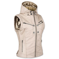 Speed and Strength Women's Hell's Belles Cream Leather Vest