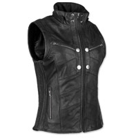 Speed and Strength Women's Hell's Belles Black Leather Vest