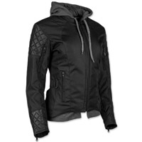 Speed and Strength Women's Double Take Black Textile/Leather Jacket