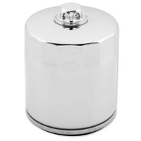 Twin Power Chrome Magnetic Oil Filter with Nut