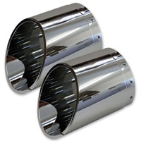 Barracuda Custom Accessories Chrome Slash Cut Exhaust Tip Set