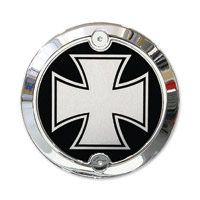 Barracuda Custom Accessories Chrome Modern Iron/ Maltese Cross Cam Cover Badge