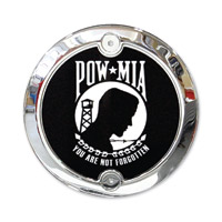 Barracuda Custom Accessories Chrome Modern Pow/Mia Cam Cover Badge