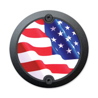Barracuda Custom Accessories Black Modern Stars/Stripes U.S. Flag Cam Cover Badge