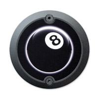 Barracuda Custom Accessories Black Modern 8-Ball Cam Cover Badge