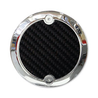 Barracuda Custom Accessories Chrome Modern Carbon Fiber Cam Cover Badge