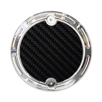 Barracuda Custom Accessories Chrome Slotted Carbon Fiber Cam Cover Badge