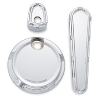 Arlen Ness Chrome Beveled Dash Accessory Pack