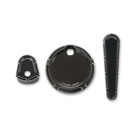 Arlen Ness Black Beveled Dash Accessory Pack