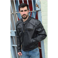 Milwaukee Motorcycle Clothing Co. Men's Warrior Black Leather Jacket