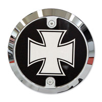 Barracuda Custom Accessories Chrome Modern Iron / Maltese Cross Derby Cover