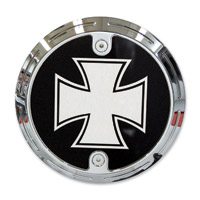 Barracuda Custom Accessories Chrome Slotted Iron / Maltese Cross Derby Cover