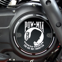 Barracuda Custom Accessories Black Slotted POW/MIA Derby Cover
