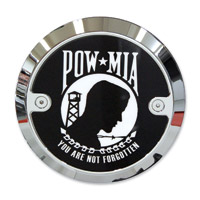 Barracuda Custom Accessories Chrome Modern POW/MIA Derby Cover