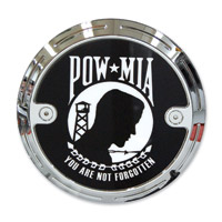Barracuda Custom Accessories Chrome Slotted POW/MIA Derby Cover