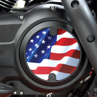 Barracuda Custom Accessories Black Modern Stars and Stripes / U.S. Flag Derby Cover