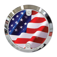 Barracuda Custom Accessories Chrome Modern Stars and Stripes U.S. Flag Derby Cover