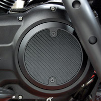 Barracuda Custom Accessories Black Modern Carbon Fiber Derby Cover