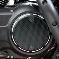 Barracuda Custom Accessories Black Slotted Carbon Fiber Derby Cover