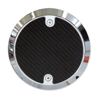 Barracuda Custom Accessories Chrome Modern Carbon Fiber Derby Cover