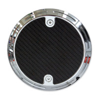 Barracuda Custom Accessories Chrome Slotted Carbon Fiber Derby Cover