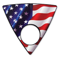 Barracuda Custom Accessories Matte Stars and Stripes U.S.A. Flag Keyhole Left Side Wedge Badge