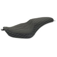 Mustang Revere Journey Diamond Gun Metal Grey Thread 2-Up Seat
